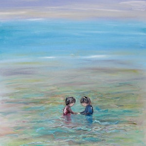 (CreativeWork) The Novelty of Water  by Meg Vivers. Oil Paint. Shop online at Bluethumb.