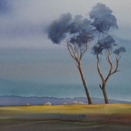 (CreativeWork) North West Tasmania by Robin Hines. Watercolour Paint. Shop online at Bluethumb.