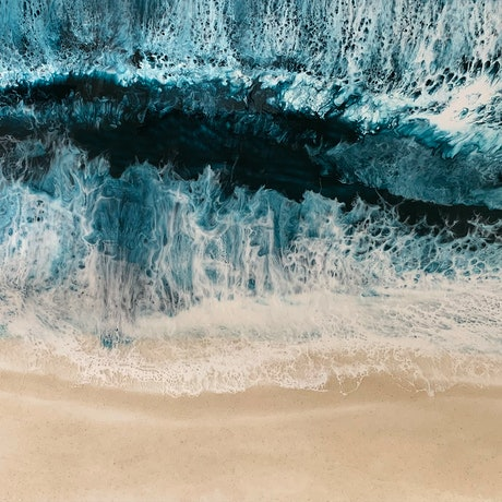(CreativeWork) Ocean Treasure by Martine Vanderspuy. Resin. Shop online at Bluethumb.