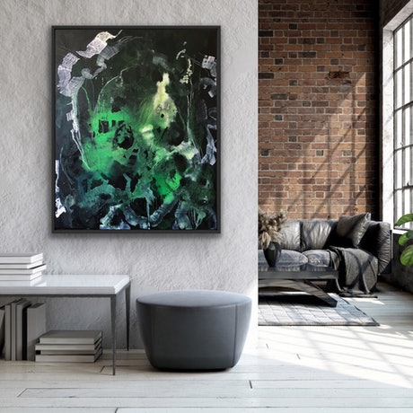 (CreativeWork) BLACK SUMMER  by Uschi Novinc. Acrylic Paint. Shop online at Bluethumb.