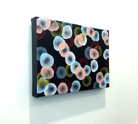 (CreativeWork) Orbicular Bloom VIII  – Original Painting by Jacquelyn Stephens. Acrylic Paint. Shop online at Bluethumb.