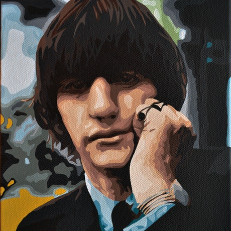 (CreativeWork) Ringo by Jacquie Hughes. Acrylic Paint. Shop online at Bluethumb.