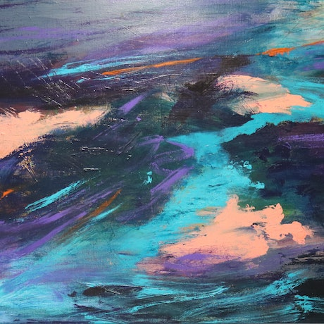 (CreativeWork) Changing Planet - One by Lorraine Moore. Acrylic Paint. Shop online at Bluethumb.