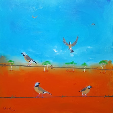 (CreativeWork) Jewels  Of The Outback by Little Heath. Oil Paint. Shop online at Bluethumb.