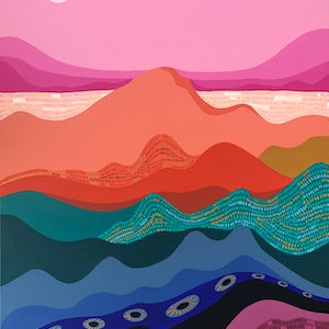 (CreativeWork) Shepards delight by emma whitelaw. Acrylic Paint. Shop online at Bluethumb.