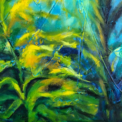 (CreativeWork) Heading to the Light by Madeleine Elkin. Oil Paint. Shop online at Bluethumb.