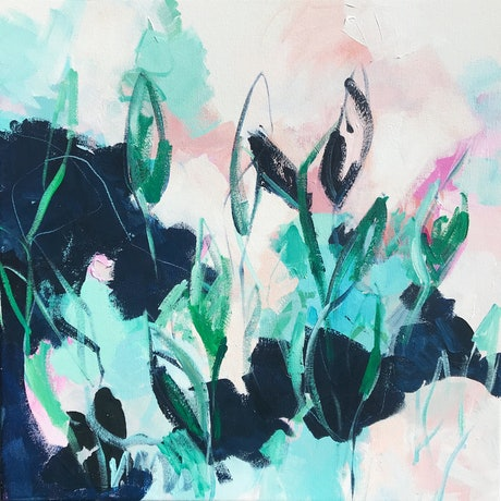 (CreativeWork) Botanical I by Liz Fitzgerald. Acrylic Paint. Shop online at Bluethumb.