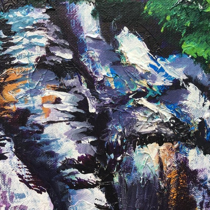 (CreativeWork) The Cliffs Of Zenith 2 by Kim Neil. Acrylic Paint. Shop online at Bluethumb.