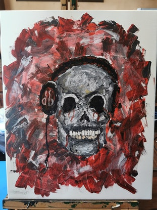 (CreativeWork) Dead Beats by Samara Wallace. Acrylic Paint. Shop online at Bluethumb.
