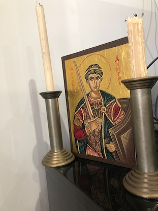 (CreativeWork) St Demetrius by Ana Poznanovic. Other Media. Shop online at Bluethumb.
