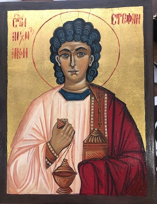 (CreativeWork) St Stephen  by Ana Poznanovic. Other Media. Shop online at Bluethumb.