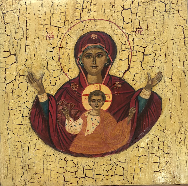 (CreativeWork) The Virgin Mary and The Baby Jesus by Ana Poznanovic. Other Media. Shop online at Bluethumb.
