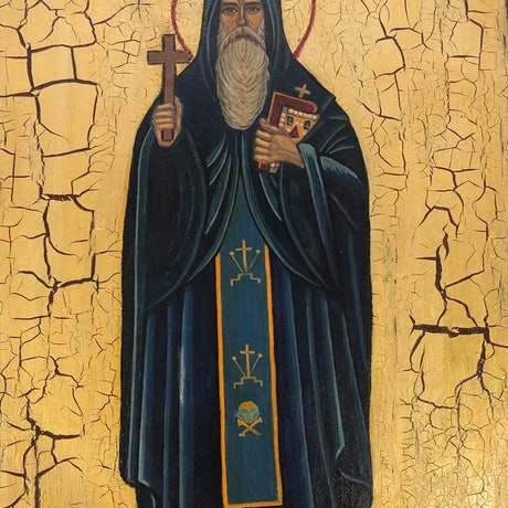 (CreativeWork) St Venerable Cyriacus by Ana Poznanovic. Other Media. Shop online at Bluethumb.