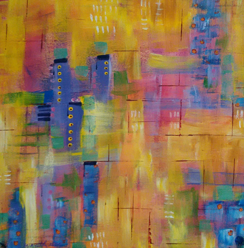 (CreativeWork) City of Gold by Jan Naylor. Acrylic Paint. Shop online at Bluethumb.