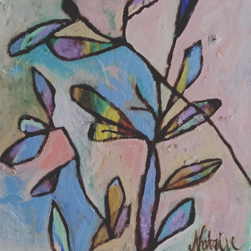 (CreativeWork) Peace Tree by Natalie Uhrik. Acrylic Paint. Shop online at Bluethumb.