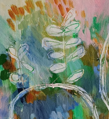 (CreativeWork) Sprouts by Natalie Uhrik. Acrylic Paint. Shop online at Bluethumb.