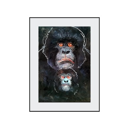 (CreativeWork) Gorilla - Mother and Child series by John Graham. Mixed Media. Shop online at Bluethumb.