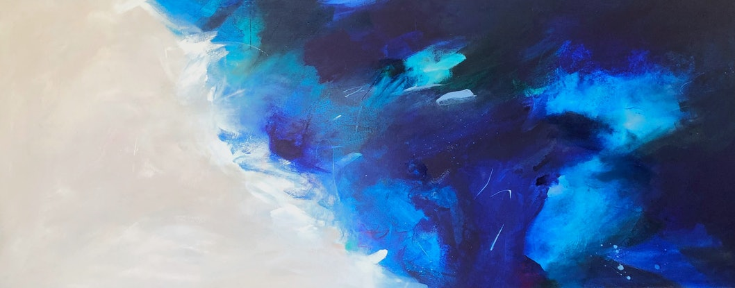 (CreativeWork) On sale - Salt and Sand  by Jessie Wheldon. Mixed Media. Shop online at Bluethumb.