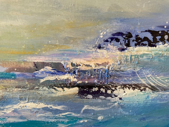 (CreativeWork) Turbulent Sea by Tracey Berthold. Acrylic Paint. Shop online at Bluethumb.