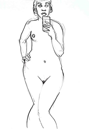 (CreativeWork) Nude  by John Graham. Drawings. Shop online at Bluethumb.