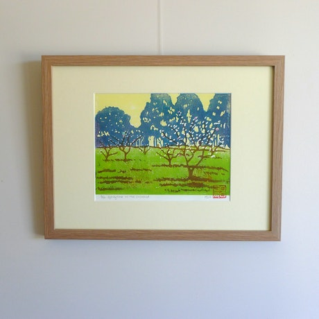 (CreativeWork) SPRINGTIME IN THE ORCHARD by MARION NELSON. Other Media. Shop online at Bluethumb.