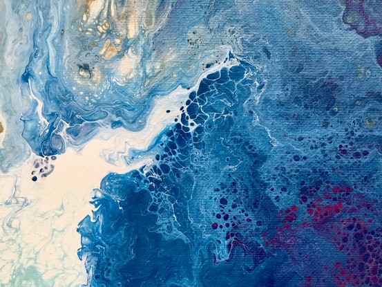 "(CreativeWork) ""Midsummer night dream"" Abstract contemporary art by Debra Ryan. Mixed Media. Shop online at Bluethumb."