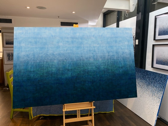 (CreativeWork) Deep Ocean  - Mixed Media on canvas 152 x 92 cm  by George Hall. Mixed Media. Shop online at Bluethumb.