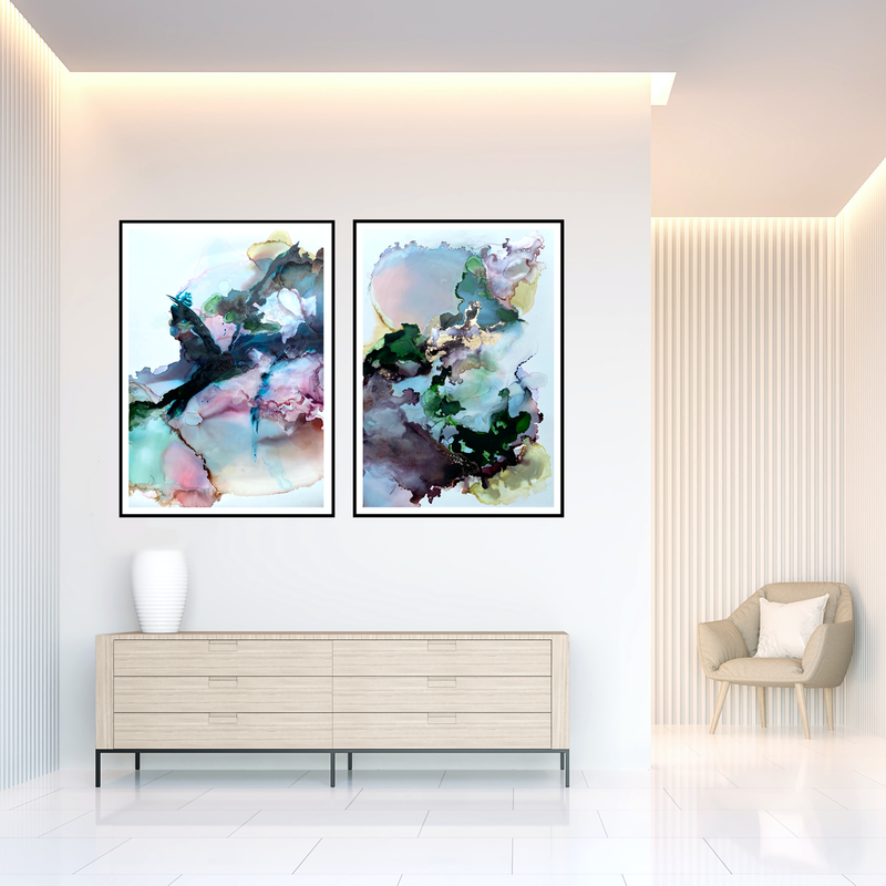 (CreativeWork) Synergy by Michelle Drougas. Mixed Media. Shop online at Bluethumb.