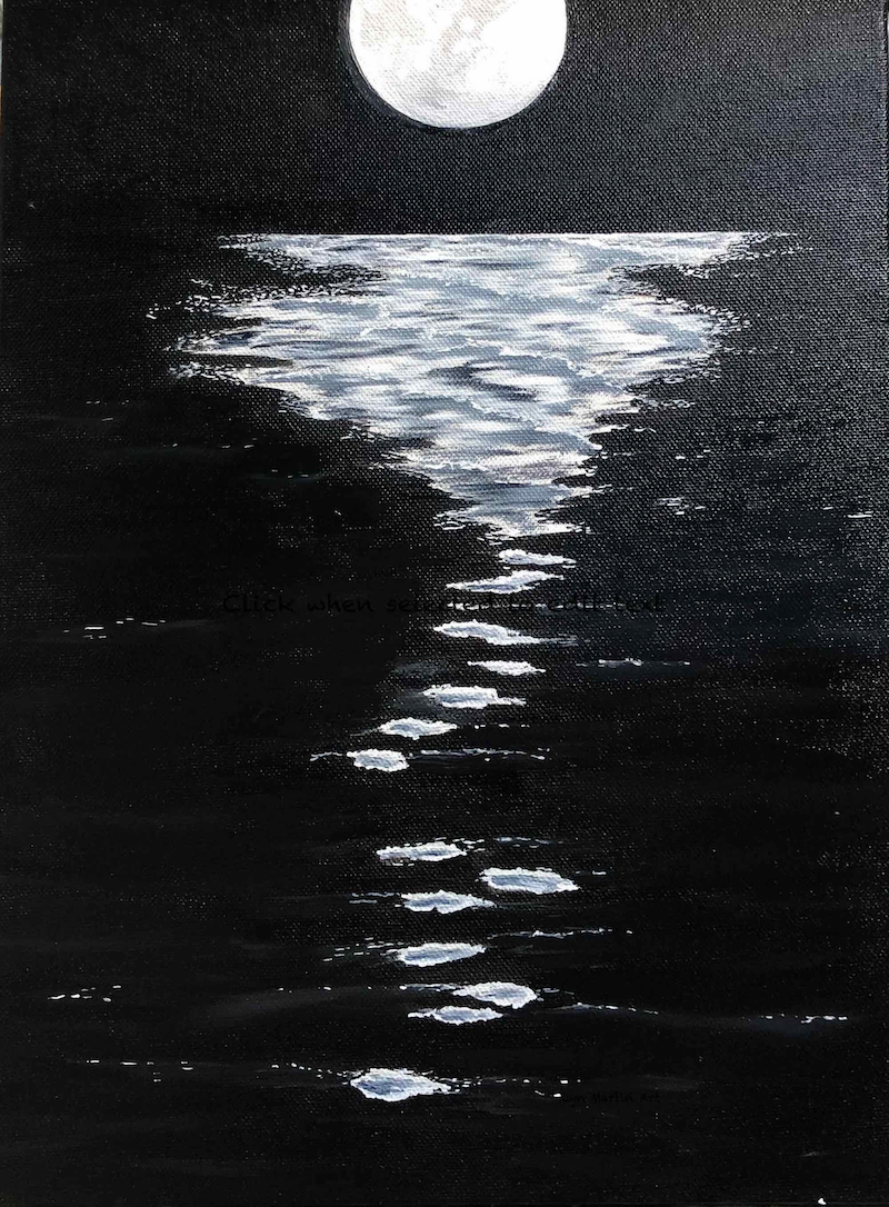 (CreativeWork) Moondance by Lyn Martin. Oil Paint. Shop online at Bluethumb.