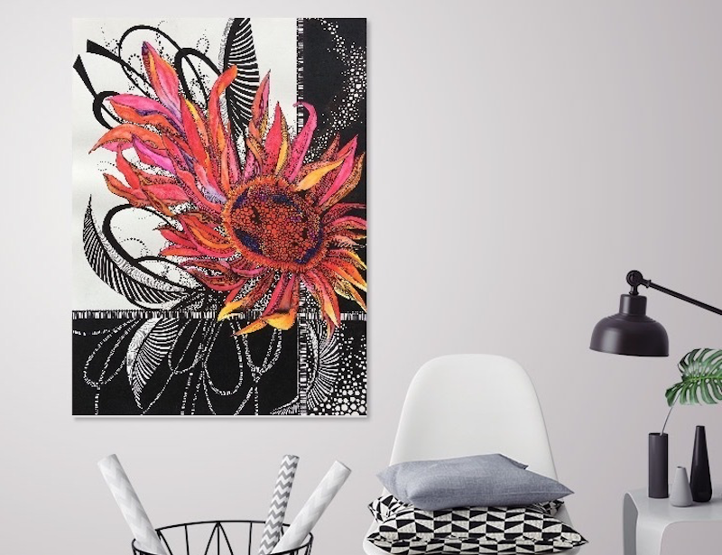 (CreativeWork) Red Gerbera - Limited edition Giclee print - Signed and Numbered 4/250  by Tania Daymond. Drawings. Shop online at Bluethumb.