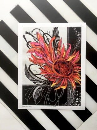 (CreativeWork) Red Gerbera - Limited edition Giclee print - Signed and Numbered 5/250   by Tania Daymond. Drawings. Shop online at Bluethumb.