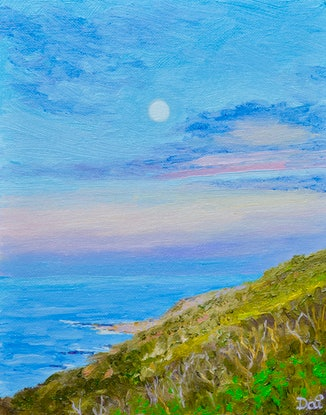 (CreativeWork) Evening Glow at Cape Naturaliste by Dai Wynn. Oil Paint. Shop online at Bluethumb.