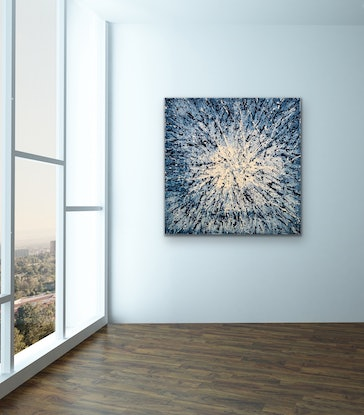 (CreativeWork) Blue Galaxy - CZ20011 by Carol Zsolt. Acrylic Paint. Shop online at Bluethumb.