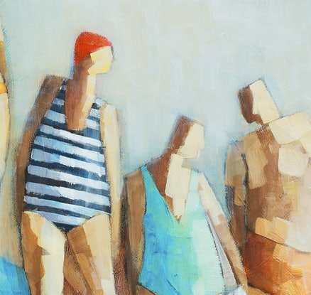 (CreativeWork) 'BACK IN THE SWIM' Ed. 5 of 100 by Wendy Wooden. Print. Shop online at Bluethumb.