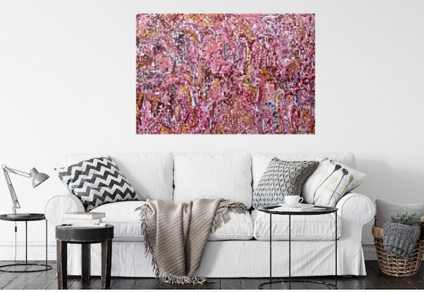 (CreativeWork) Marrakech Sunset  by Carley Bourne. Acrylic Paint. Shop online at Bluethumb.
