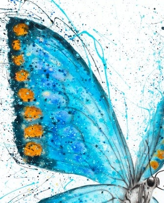 (CreativeWork) Fresh Morning Butterfly by Ashvin Harrison. Acrylic Paint. Shop online at Bluethumb.