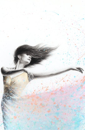 (CreativeWork) Sunshine Sparkle Dance by Ashvin Harrison. Acrylic Paint. Shop online at Bluethumb.