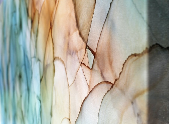 (CreativeWork) Impressions of a Reef - large 2metre x 1 metre  abstract   by __pete+chrissy angelheart. Mixed Media. Shop online at Bluethumb.