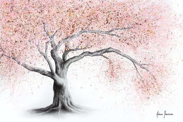 (CreativeWork) Forever Blossom by Ashvin Harrison. Acrylic Paint. Shop online at Bluethumb.