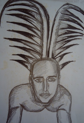 (CreativeWork) BEAUTY PORTRAIT 4. by Paula Reilly. Drawings. Shop online at Bluethumb.