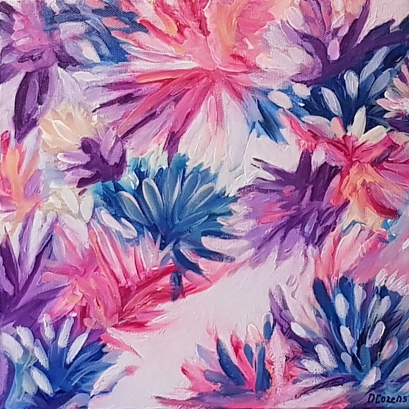 """(CreativeWork) """"Paradise"""" by Donna Cozens. Acrylic Paint. Shop online at Bluethumb."""
