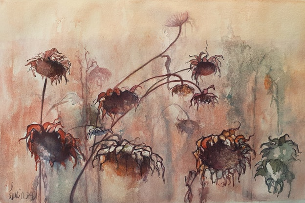 (CreativeWork) Forgotten Field by Lucinda Leveille. Watercolour Paint. Shop online at Bluethumb.