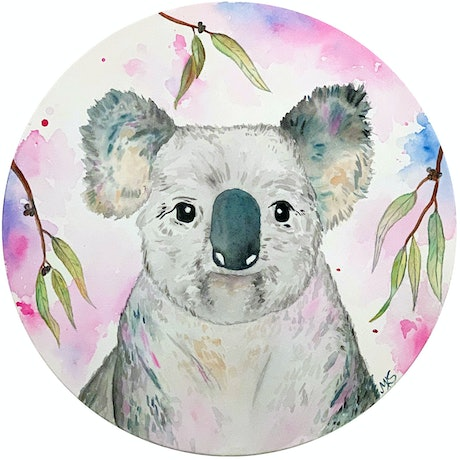 (CreativeWork) Hang in There by Melanie Spehr. Watercolour Paint. Shop online at Bluethumb.