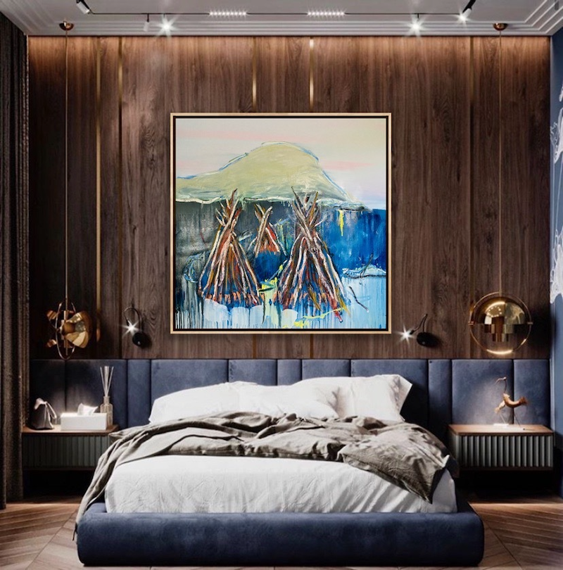 (CreativeWork) After the Storm Palm Beach - Study  2 by Shane Bowden. Acrylic Paint. Shop online at Bluethumb.