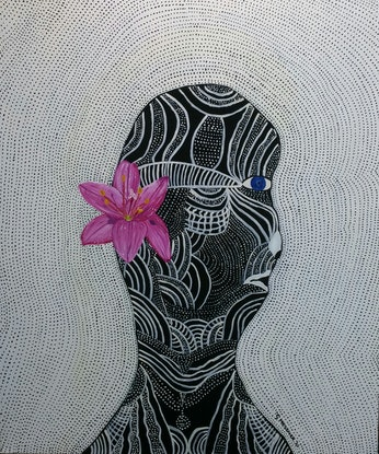 (CreativeWork) TRIBAL PRINCESS by Sandra Messner. Acrylic Paint. Shop online at Bluethumb.