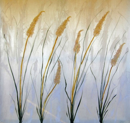 (CreativeWork) Pampas Grass by Peter Marr. Acrylic Paint. Shop online at Bluethumb.