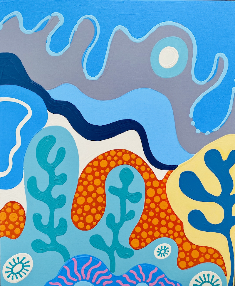 (CreativeWork) Peace & Tranquility by CJ Dixon. Acrylic Paint. Shop online at Bluethumb.