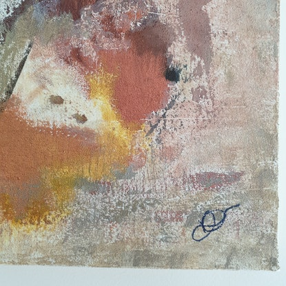 (CreativeWork) Stone & Earth 1 by Ruth Murfet. Acrylic Paint. Shop online at Bluethumb.