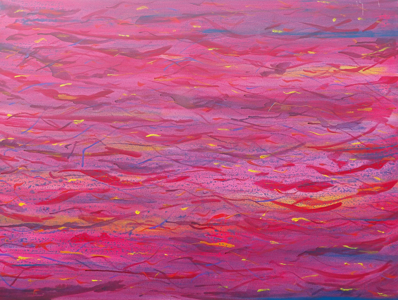 (CreativeWork) Red Wave by Peter Marr. Acrylic Paint. Shop online at Bluethumb.