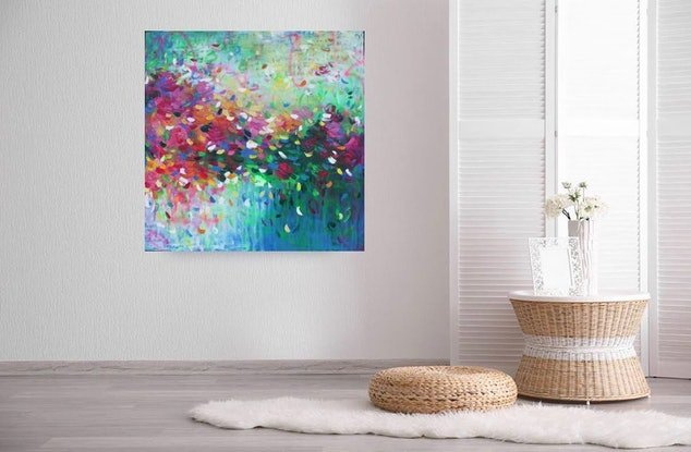 (CreativeWork) My Beating Heart by Belinda Nadwie. Oil Paint. Shop online at Bluethumb.